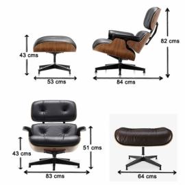 furmod Eames Lounge Chair Inspirado Nogal