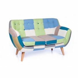 Club Patchwork Sofa 2 Seater