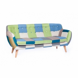 Club Patchwork Sofa 3 Seater