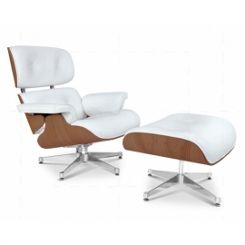 James Lounge Chair PU Walnut
