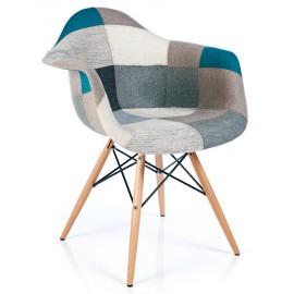 Furmod Patchwork Chair XL Style Blue