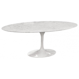 Oval Tulip Table Marble 199cm Italian Production