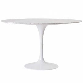 Dining Tulip Table 100cm in Carrara Marble