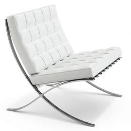 Barcelona meia cadeira de couro