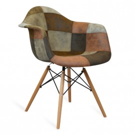 Patchwork XL Brown Chair