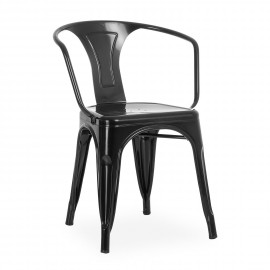 Industrial chair Bistro Style with arms