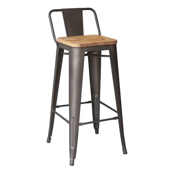 Industrial stool Bistro LB Wood Antique