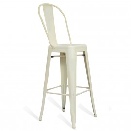 Bistro Style stool with backrest