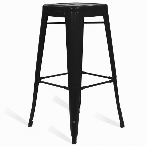 Industrial white stool Bistro Matt 76CM