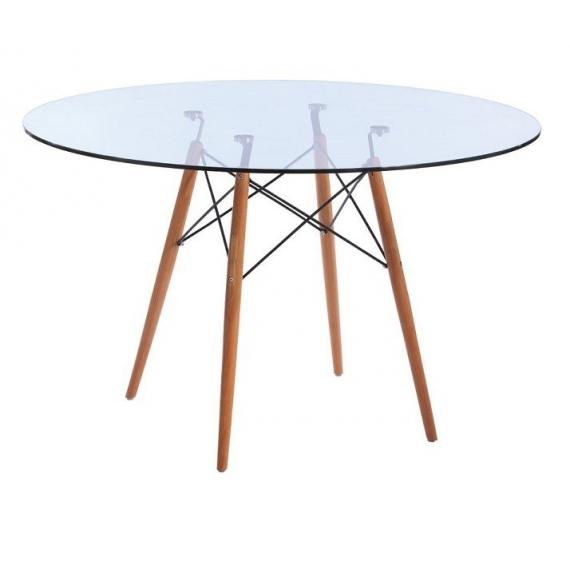Mesa furmod Eames Glass Style (120 cm)