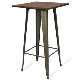 Mesa industrial Alta Bistro Dark Legs Antique