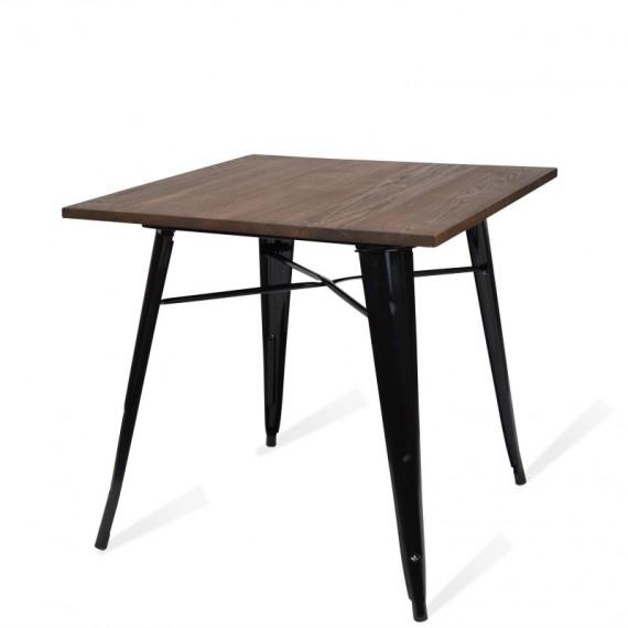 Industrial table Bistro Dark Legs Black