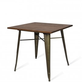 Table Bistro Dark Legs Antique