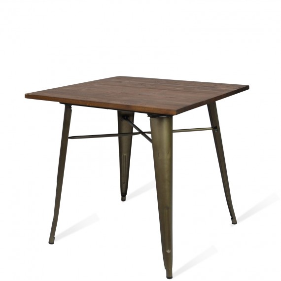 Industrial table Bistro Dark Legs Antique