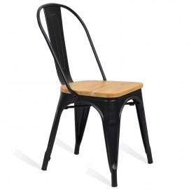 Cadeira industrial estilo bistrô madeira