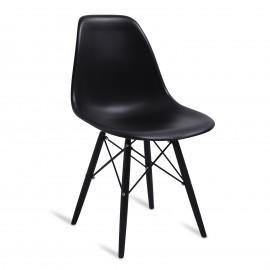 """Cadeira James Wood """"High Quality"""" All Black"""
