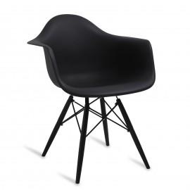 """Cadeira James Wood """"High Quality"""" XL toda preta"""