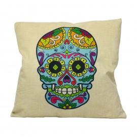 Cojín Mexican Skull Blue