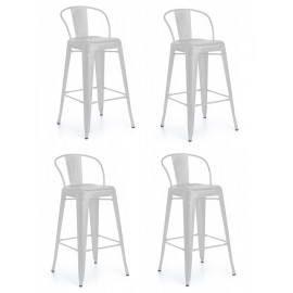 Pack 4 industrial stools Bistro New edition