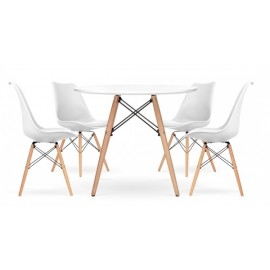 Pack of 4 Chairs Shark and 1 Table James 100 cm
