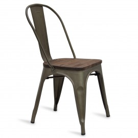 Industrial chair Bistro Wood Antique