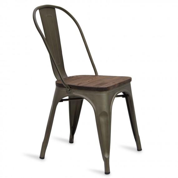 Industrial chair Bistro Wood Antique