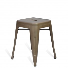 Industrial low stool Bistro Antique