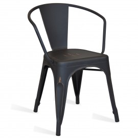 Bistro Arms Vintage Gold industrial chair