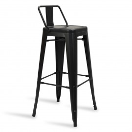 Industrial stool Metal Wide Bistro Matte