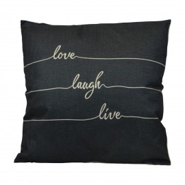 Love Laugh Live Cushion