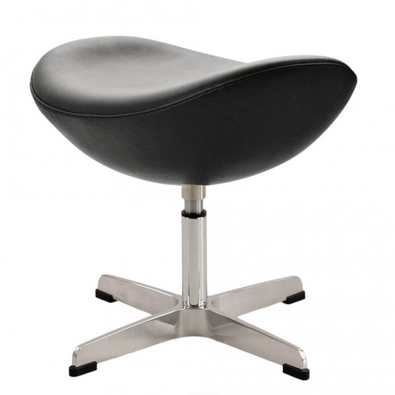 Ottoman Replica of the Leather Egg Chair by designer Arne Jacobsen
