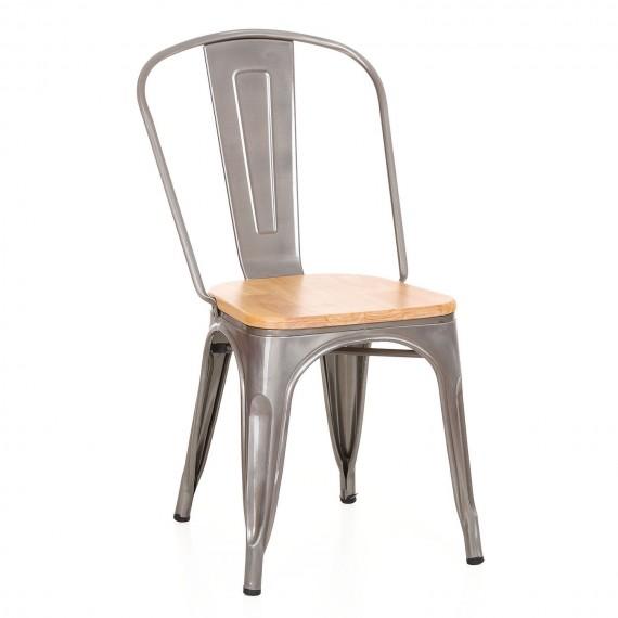 Industrial chair Bistro Wood Metal