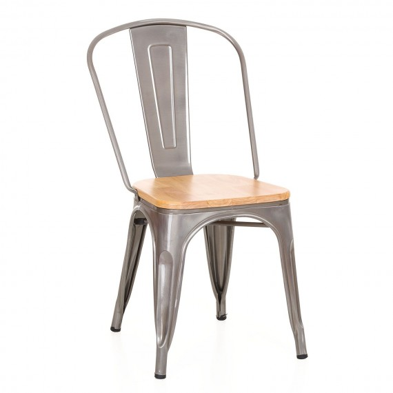 Silla industrial Bistro Wood Metal