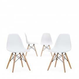 """Pack 4 Chair James Wood """"New Edition"""""""