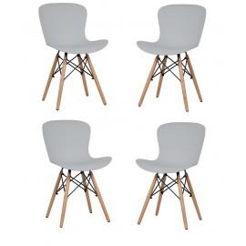 Pacote de 4 cadeiras de madeira torre nova edição
