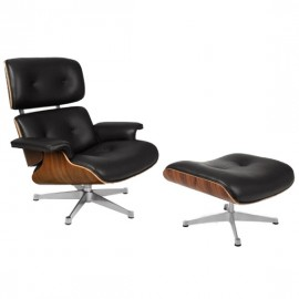 James Lounge Chair Poltrona de edição especial em couro granulado e jacarandá