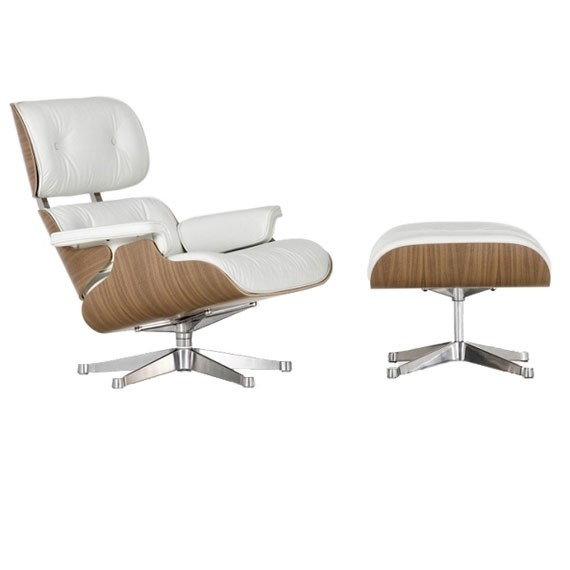 Eames lounge chair replica in walnut wood by Charles & Ray Eames