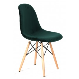 "Silla James Wood ""Hig Quality"" Velvet Green"
