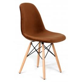Cadeira James Velvet Brown