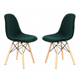 Pack of 2 Velvet Chairs