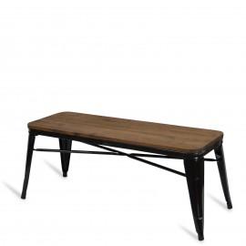 Bistro wooden bench