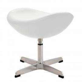 Réplica otomana da cadeira de couro em forma de ovo, do designer Arne Jacobsen