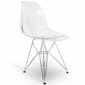 Cadeira James de metal transparente - cadeiras de design