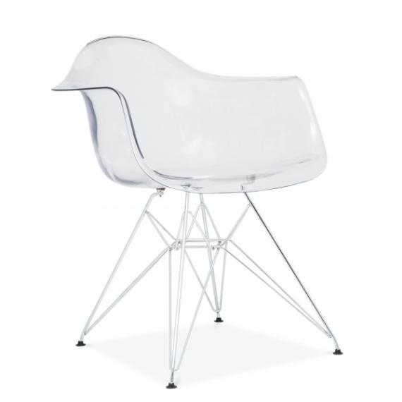Furmod Eames DAR estilo cadeira transparente