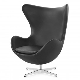 Leather Egg Chair Replica by designer Arne Jacobsen