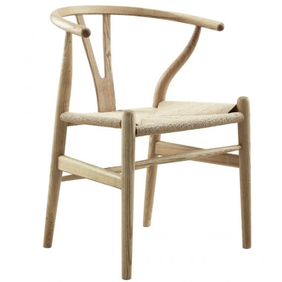 Réplica de la silla Wishbone CH24 de alta gamma