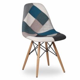 Cadeira Furmod Patchwork Estilo Azul