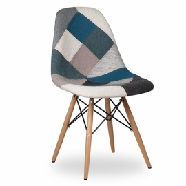 Patchwork Chair Blue