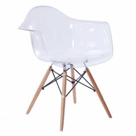 """Cadeira James Wood """"High Quality"""" XL Transparente"""