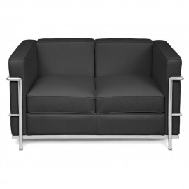 Sofa Beckham 2 Places in grain leather